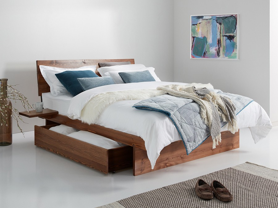 Japanese Storage Bed Get Laid Beds, King Storage Bed Frame With Headboard