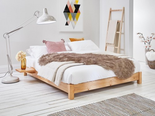 Low Platform Bed (No Headboard / Space Saver)
