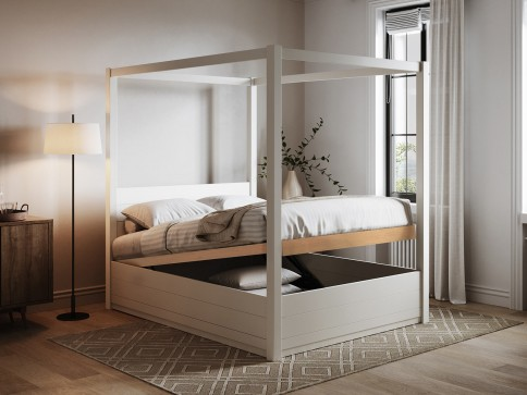 Ottoman Four Poster Storage Bed