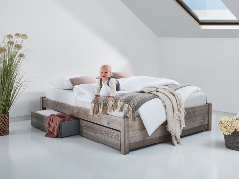 Platform Storage Bed (No Headboard)