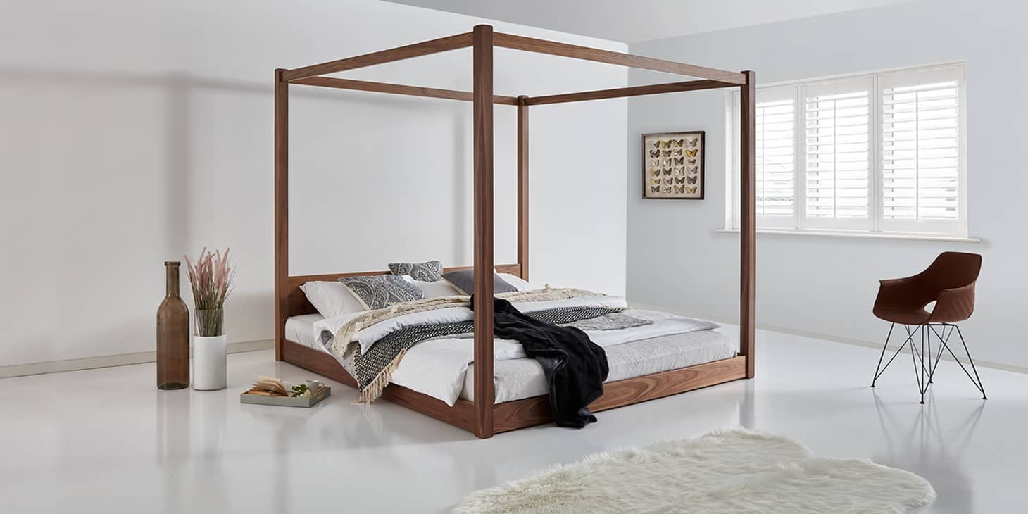 Picture of: Low Four Poster Bed Get Laid Beds