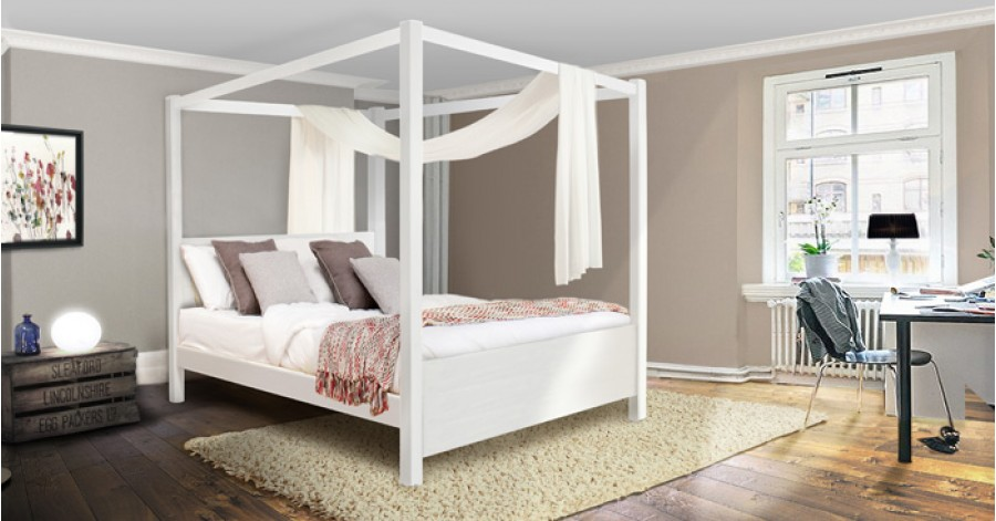 Wooden Summer Four Poster Bed