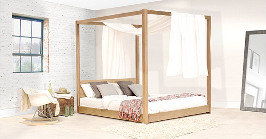 handmade wooden low four poster bed by get laid beds ebay