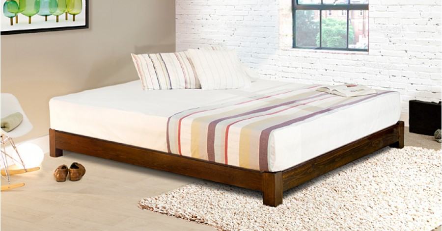 Low platform bed space saver get laid beds for Low to ground beds