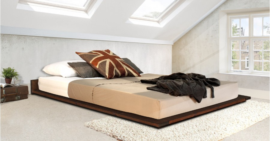 Details about Handmade Wooden Low Modern Bed - By Get Laid Beds