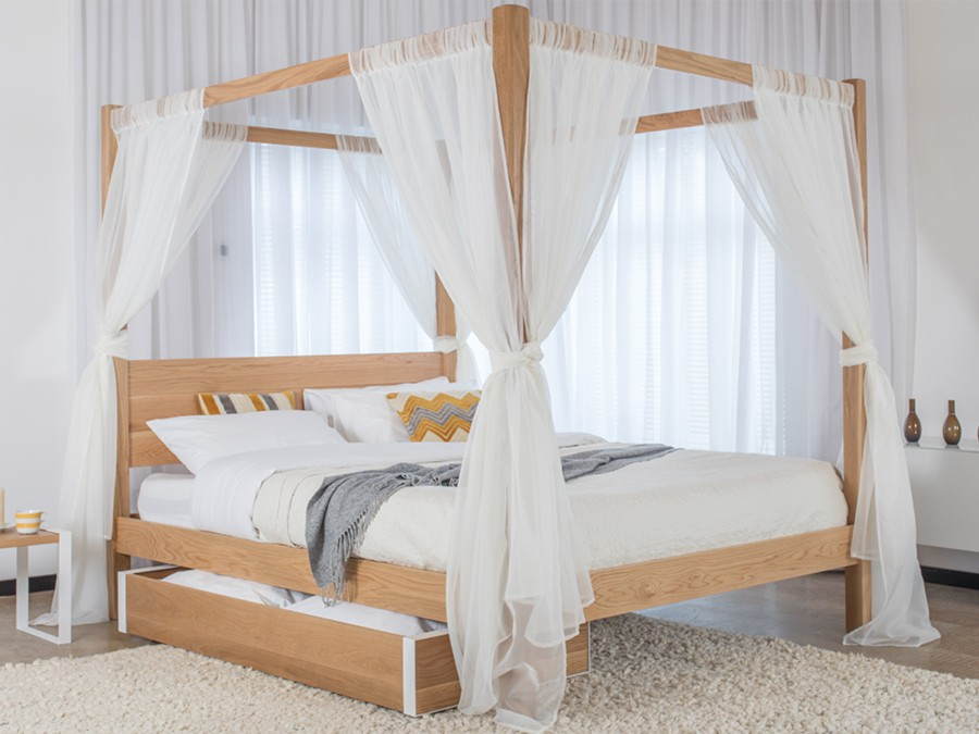 Four poster bed classic get laid beds - Four poster bed curtains ...