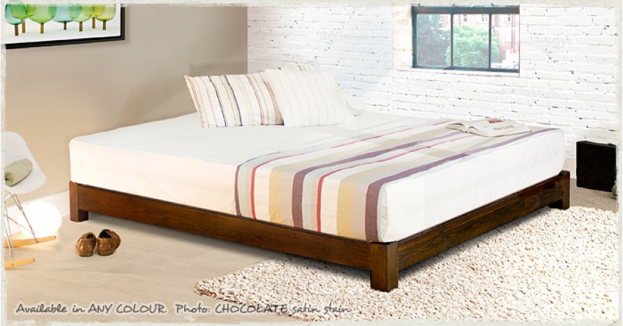 low platform bed space saver