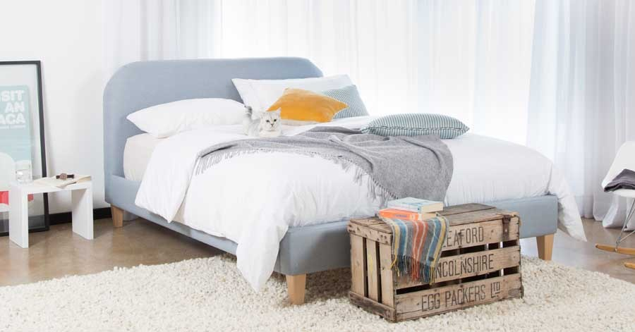 Low Upholstered Bed