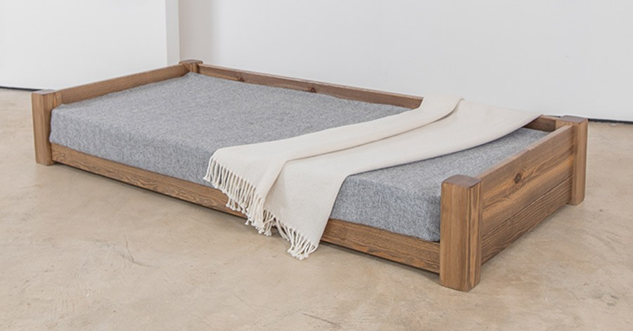 large wooden dog bed get laid beds