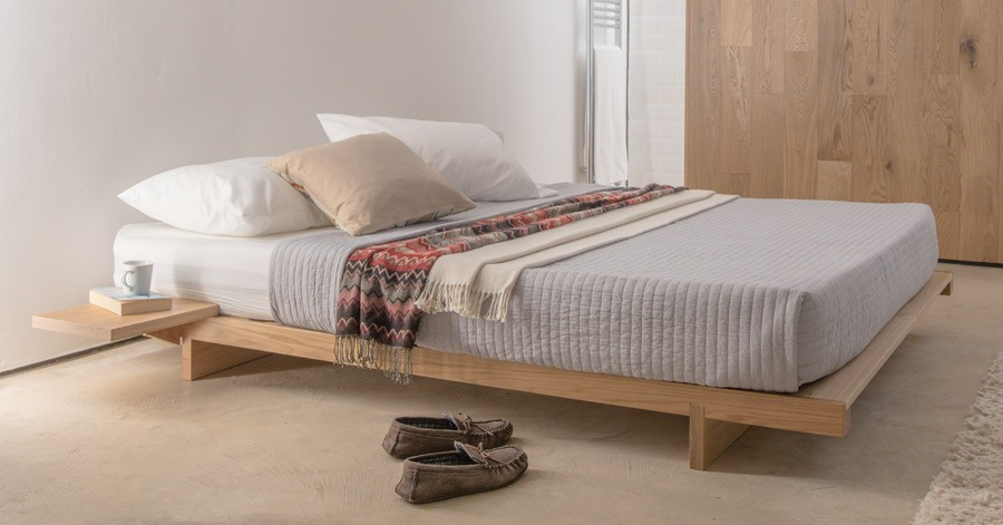 Japanese fuji attic bed no headboard get laid beds for Low to floor single bed