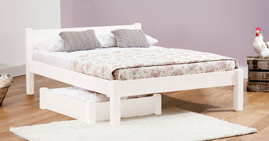 white knight bed - White Wood Bed Frame