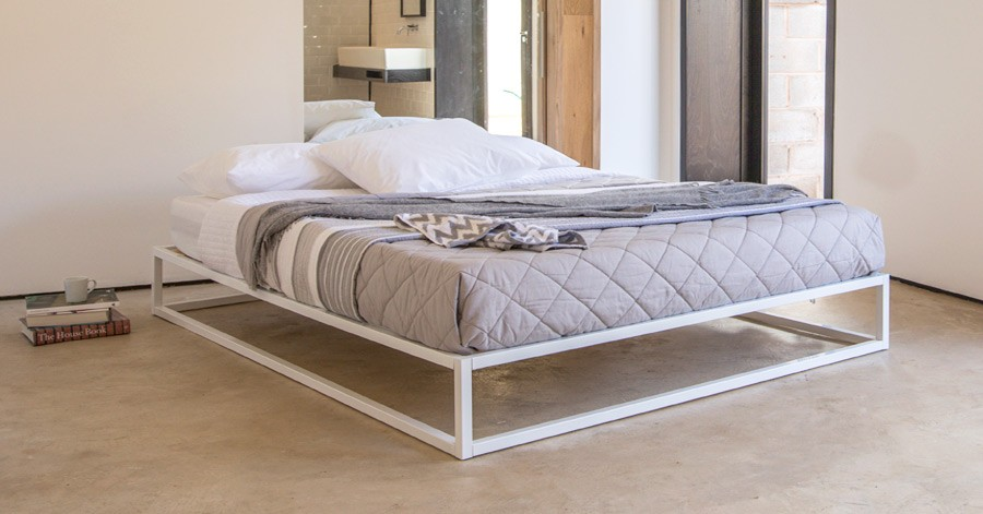 No Headboard mondrian metal platform bed (no headboard) | get laid beds