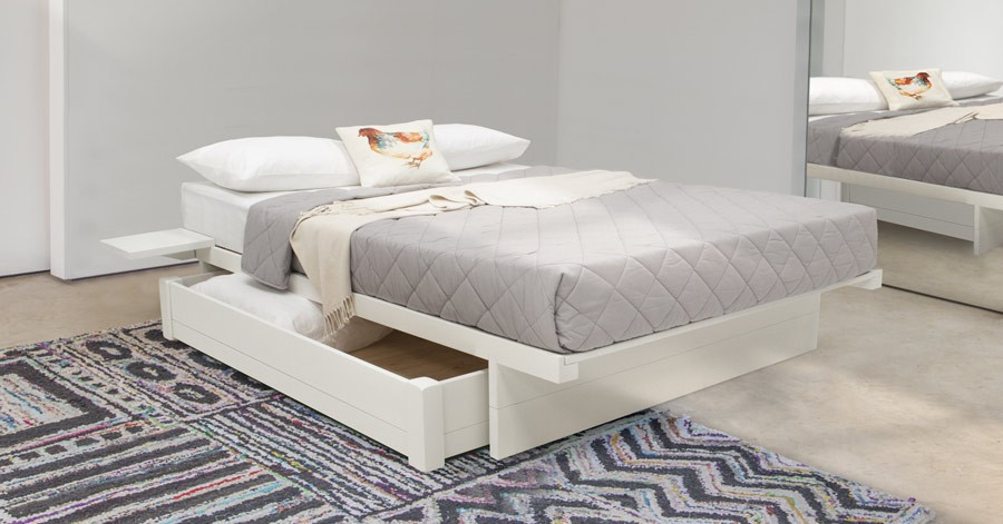 Japanese Platform Storage Bed No Headboard Get Laid Beds
