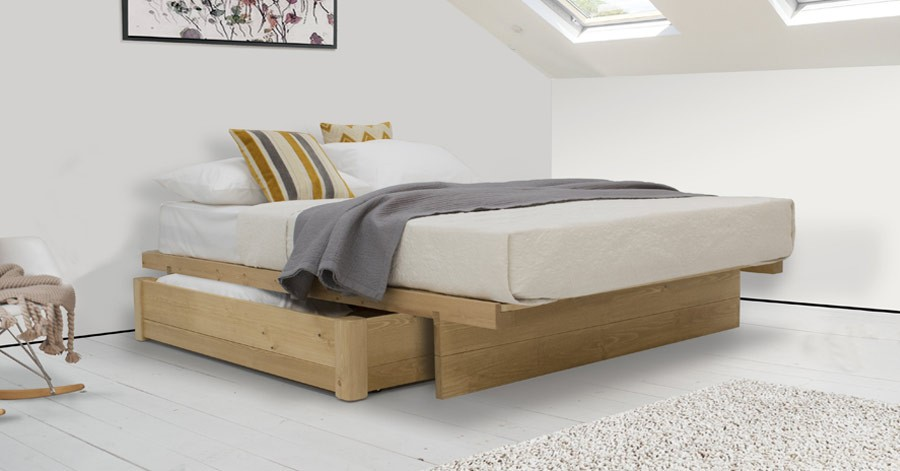 Japanese Platform Storage Bed No Headboard Get Laid Beds