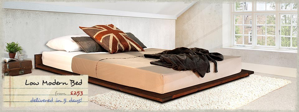 Low Wooden Bed Frame 960 x 360