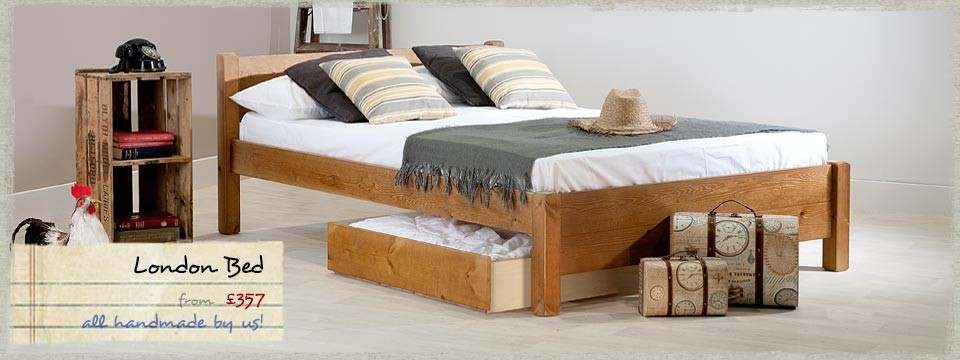 6 - London wooden bed frame