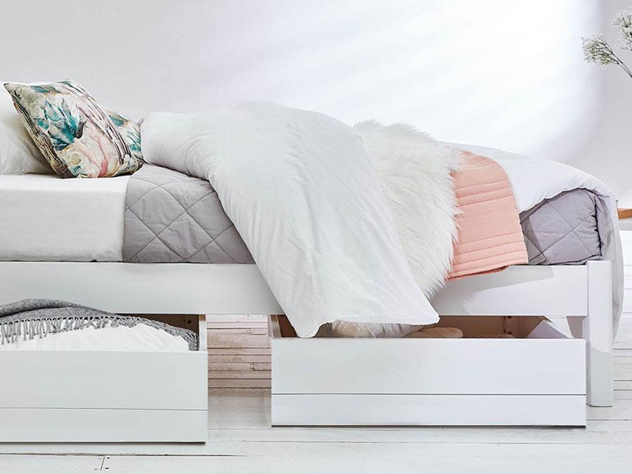 Platform Storage Bed No Headboard, Platform Beds With Storage Queen Size Mattress
