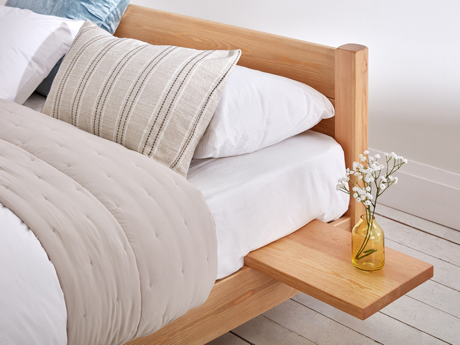 Floating Shelf on Low Platform Bed Main Size