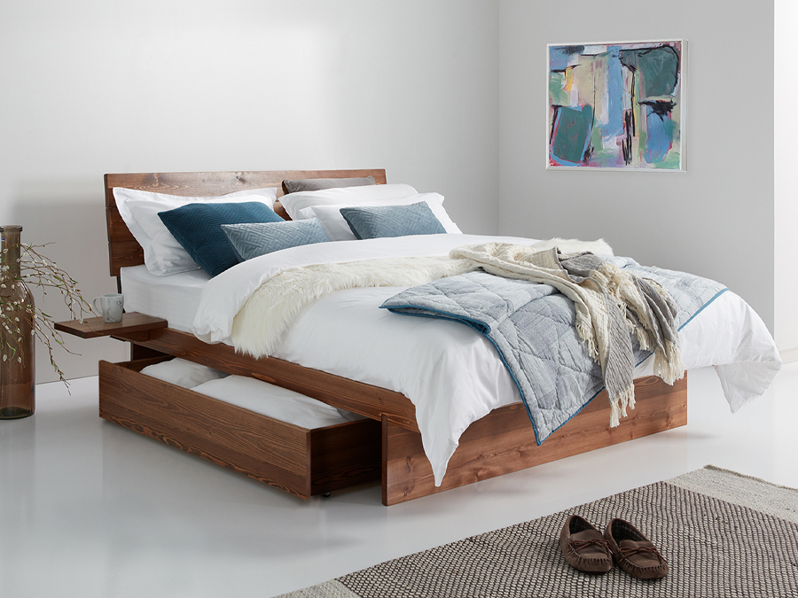 Japanese Storage Bed in Coffee Bean By Get Laid Beds