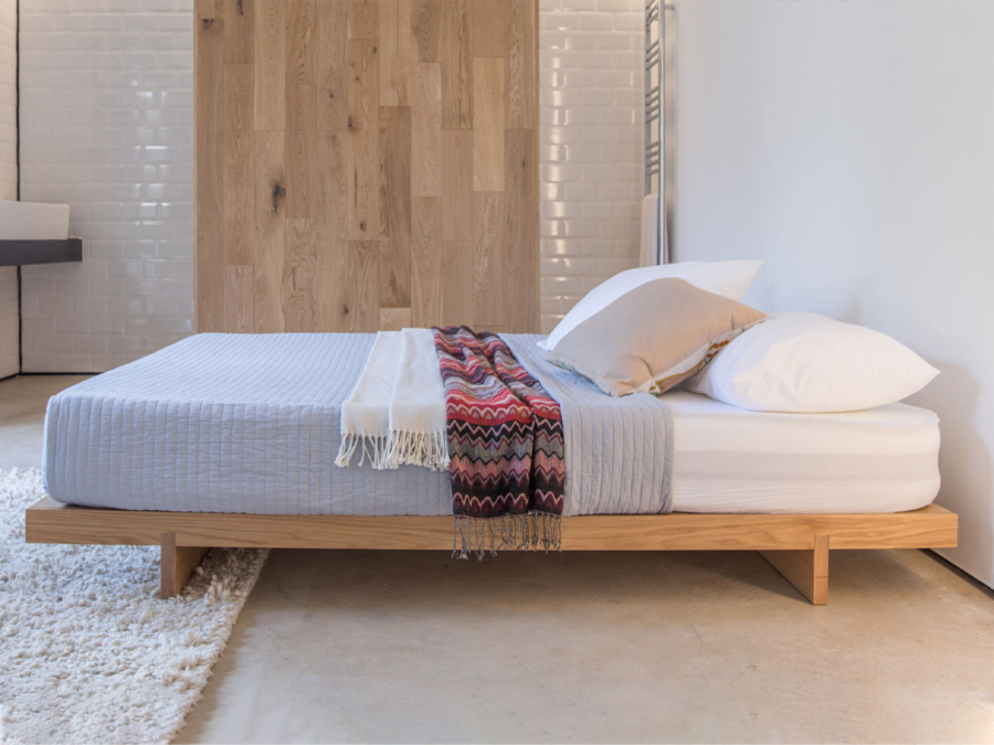 Low Fuji Attic Bed No Headboard Get, Queen Bed Frame Without Headboard