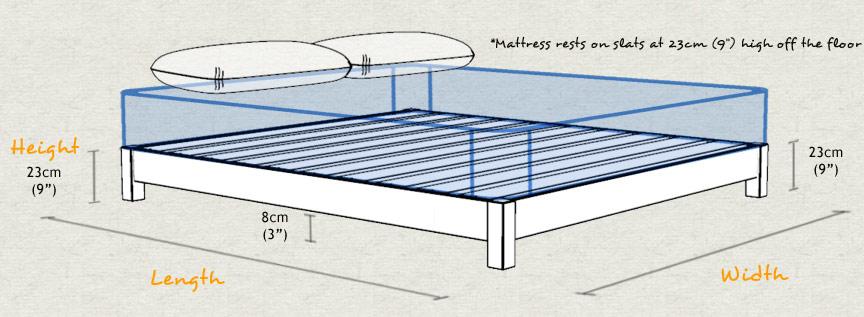 Low platform bed for Height of platform bed