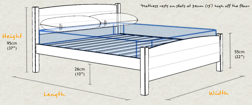 Traditional country bed get laid beds for How tall is a standard bed frame
