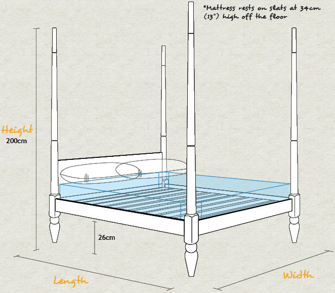 Moroccan Four Poster Bed Schematic