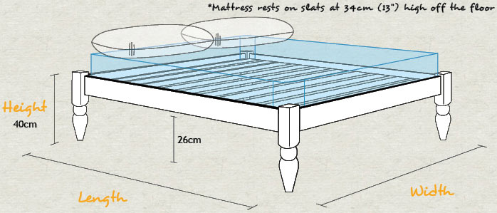 Platform Turned Bed Schematic