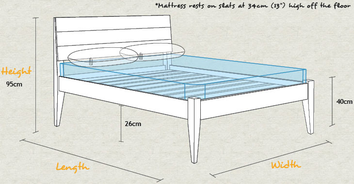 How high is a bed off the floor gurus floor for How tall is a standard bed frame