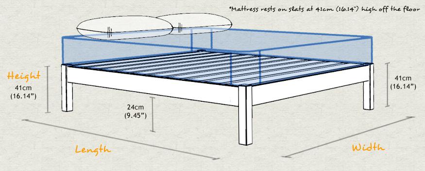 Platform bed space saver for Height of platform bed