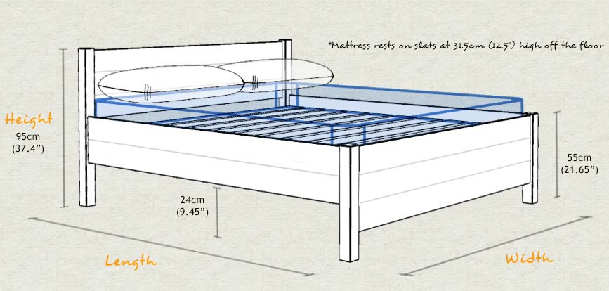 The kings bed for How tall is a standard bed frame