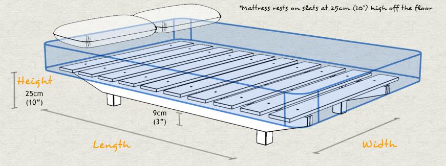 Floating platform bed get laid beds for Height of platform bed