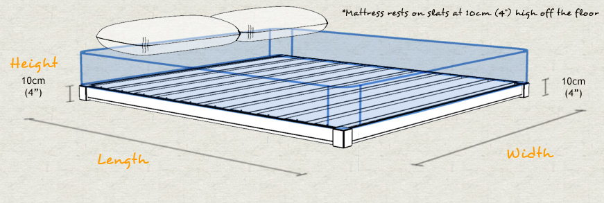Guest Bed Wooden Bed Frame Sizes and Dimensions