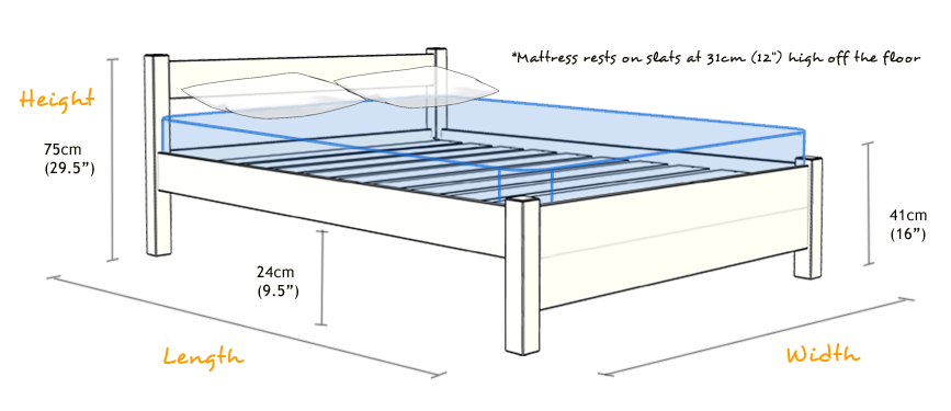Dimensions Of Double Bed Cm