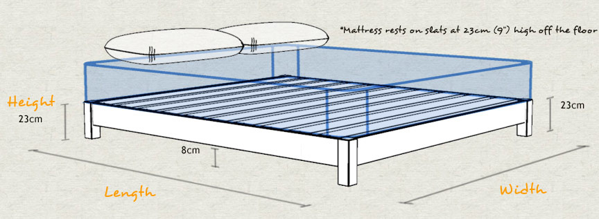 Low Platform Bed Frame Space Saver Size and Dimensions