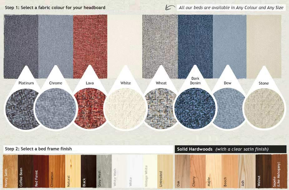 Main Product Header-Fabric-Swatches-With-Wood-By-Get-Laid-Bed